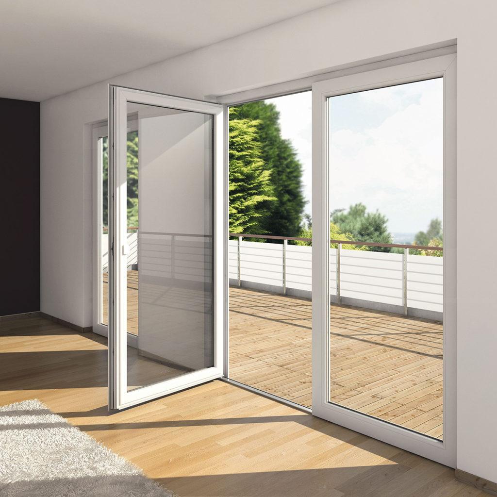 Puerta de aluminio y cristal sin barrera